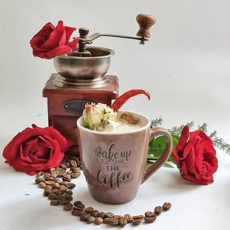 Свеча в чашке с ароматом кофе