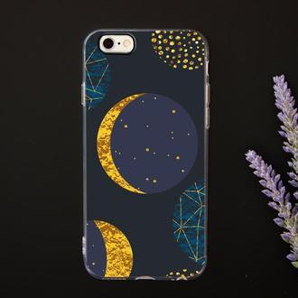 Стильный чехол для iPhone с космическим принтом