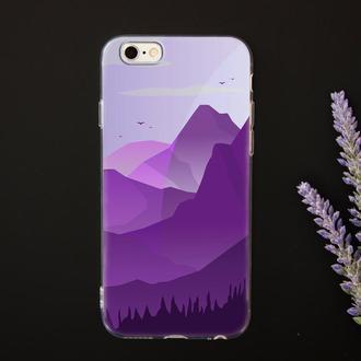 Модный чехол с дизайном горы для телефона с УФ печатью