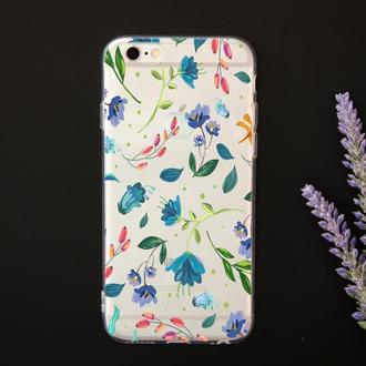 Стильный чехол на iPhone с цветочным дизайном