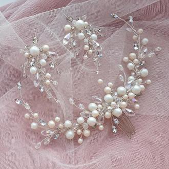 Свадебное украшение для волос, украшения в прическу, украшения для невесты