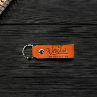 Брелок для ключей VOILE vl-kch1-kgin из кожи Краст