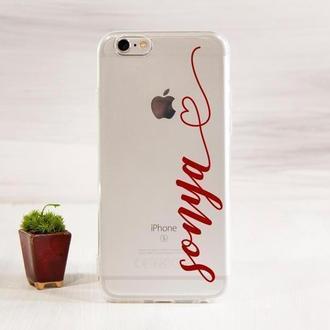 Чехол с именем для iPhone
