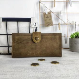 Именной кожаный кошелек с гравировкой | кошельки ручной работы | БЕСПЛАТНАЯ ГРАВИРОВКА | Kozhemyaka❤