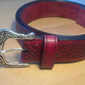 Кожаный ремень в Кельтском стиле
