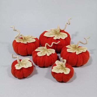 Красно Оранжевые тыквы на Хэллоуин Осенний декор тыковка Оранжевый декор на хеллоуин