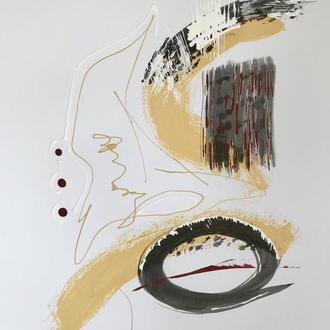 "Картина ""Wild sense"" Абстракция А2 42х59 см Абстрактная живопись Интерьерная картина"