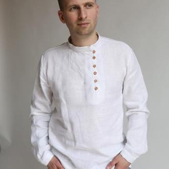 Стильна чоловіча сорочка з льону