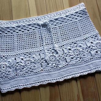 Ажурная пляжная вязаная юбка