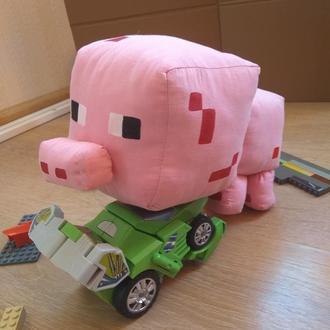 Мягкая игрушка свинка майнкрафт, мягкие игрушки майнкрафт