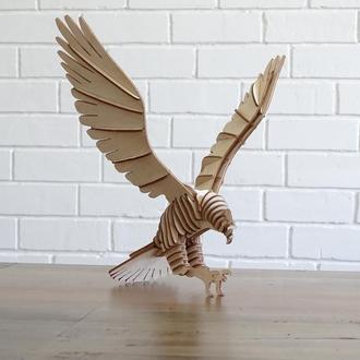 3D модели из фанеры (ястреб)