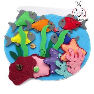 Развивающая игрушка Аквариум с рыбками на липучках