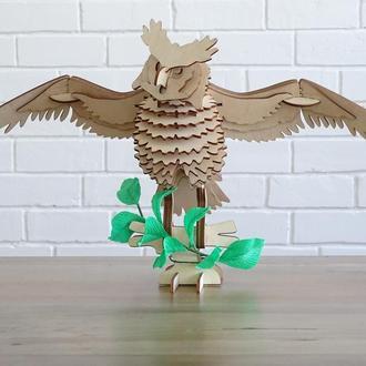 3D модели из фанеры (сова)