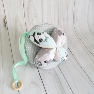 Мячик Такане с деревянным грызунком, ранее развитие малыша.