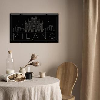 Настенное панно из металла — MILANO