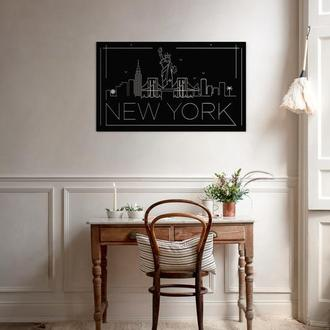 Настенное панно из металла - NEW YORK
