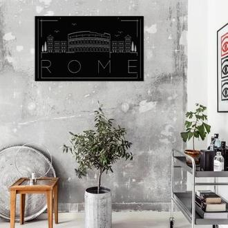 Настенное панно из металла - ROME