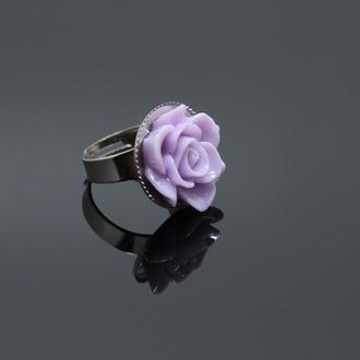 Кольцо ′Лиловая роза′