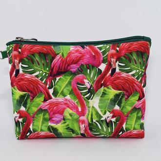 Косметичка «Розовые фламинго»