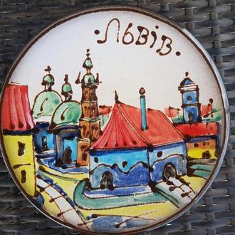 Большая керамическая тарелка - декоративная тарелка