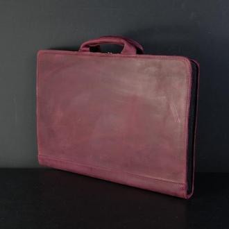 Чехол для MacBook Винтажная кожа цвет Бордо