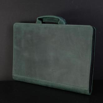 Чехол для MacBook Винтажная кожа цвет Зеленый