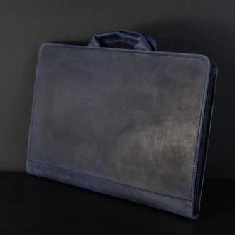 Чехол для MacBook Винтажная кожа цвет Синий