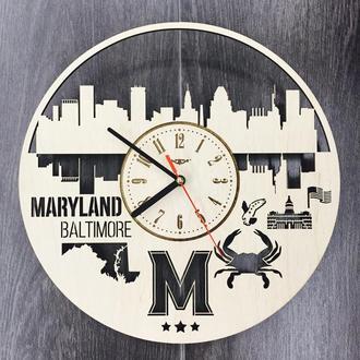 Интерьерные часы на стену «Мэриленд, Балтимор»
