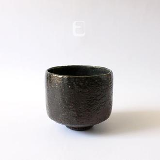 "Work no. 637W — черная чаша, пиала, тяван, чаван ""Noble Anthracite"", teabowl in japanese style"
