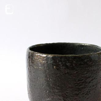 "Work no. 637W — черная чаша, пиала, тяван, чаван ""Noble Anthracite"", teabowl in japanese style"