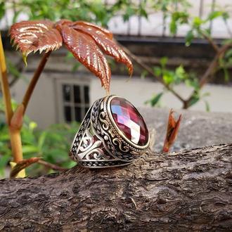 Мужское кольцо Цирконий