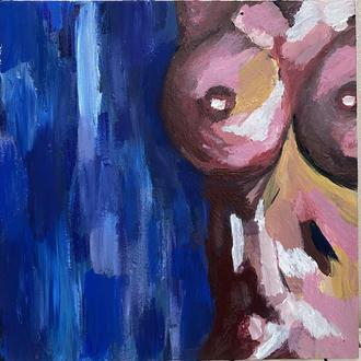 Акрилова картина в стилі ню Голі груди