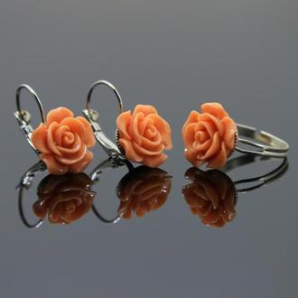 Кольцо ′Чайная роза′
