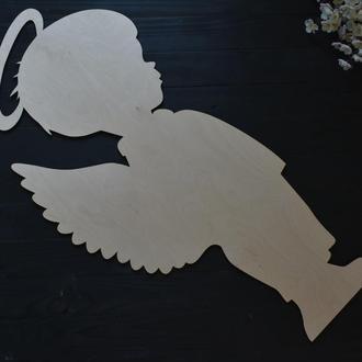 Ангел для фотозоны, таинство крещения. из дерева