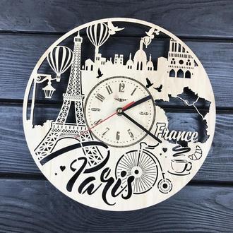 Інтер'єрні годинники на стіну «Париж, Франція»