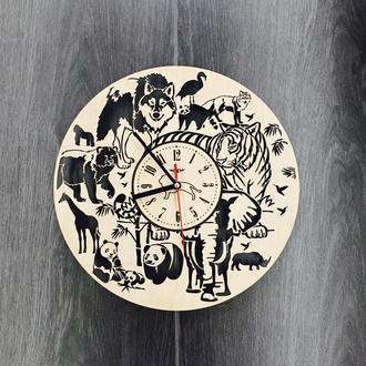 Настенные часы дизайнерские «Джунгли»