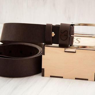 Эксклюзивный кожаный ремень с гравировкой, классическая серебрянная пряжка
