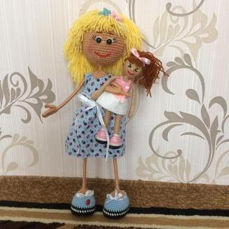 Кукла вязаная крючком. Мягкая игрушка для игры.