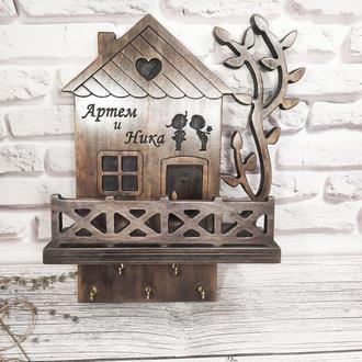 Подарок на новоселье, деревянную свадьбу, годовщину с нанесением любых надписей