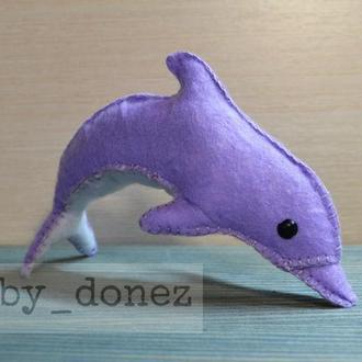 Дельфін фетр бузковий