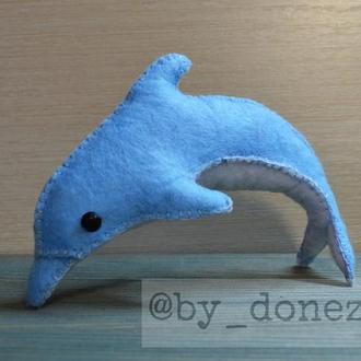 Дельфін фетр блакитний
