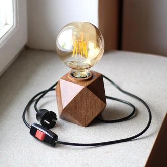 Настольный светильник в стиле лофт. Лампа Эдисона.Декоративный ночник.Подарок  друзьям