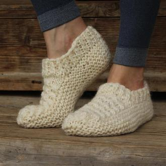 Вязаные короткие носки