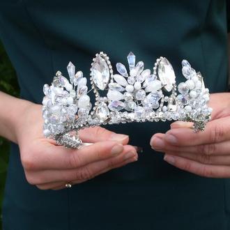 Диадема для невесты, свадебная диадема, свадебная корона, свадебная тиара, диадема для невесты