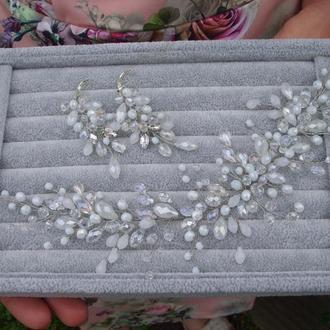 Свадебное украшение, украшение для невесты, украшение для волос, гребешок, свадебные аксессуары