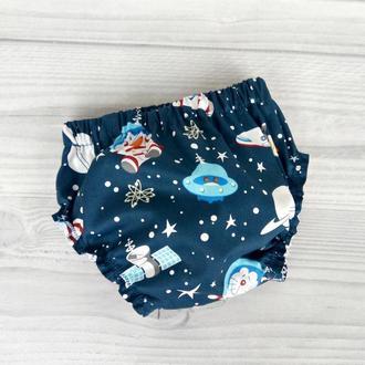 """Детские трусики на памперс """"Коты-космонавты"""""""