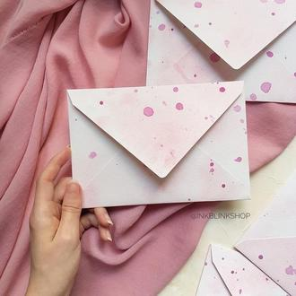 Акварельный конверт дизайнерский 12х18 см