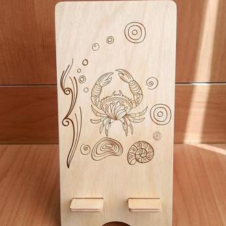 """Морские жители"" эко подставка для смартфона, планшета 2"