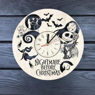 Часы настенные большие «Кошмар перед Роздеством»