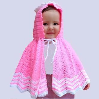 Пончо детское. Одяг дитячий. Подарунок. Подарок для маленькой девочки.Святковий одяг для дiвчинки.